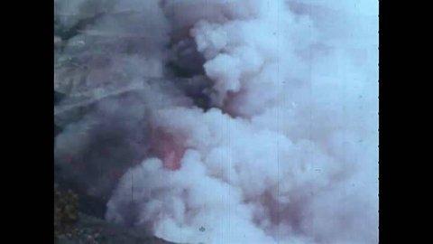 CIRCA 1970s - Fires blaze throughout California in the 1970s