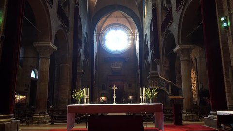 Modena/Italy - 02/22/2019: interior of the Modena Cathedral