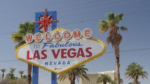 Video of Welcome to Fabulous Las Vegas sign on The Strip, Las Vegas Boulevard, Las Vegas, Nevada, USA, North America