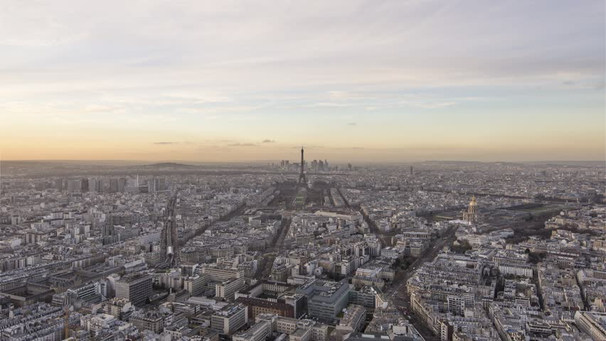 4k timelapse sequence of paris france day to night short version  | Shutterstock HD Video #1024887131