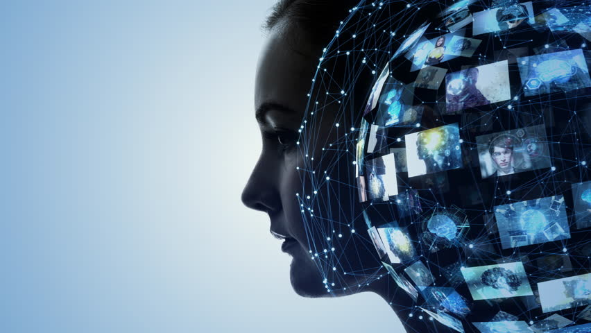 AI (Artificial Intelligence) concept. | Shutterstock HD Video #1024961741