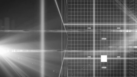 technology background 3d pan_LOOP_colorless