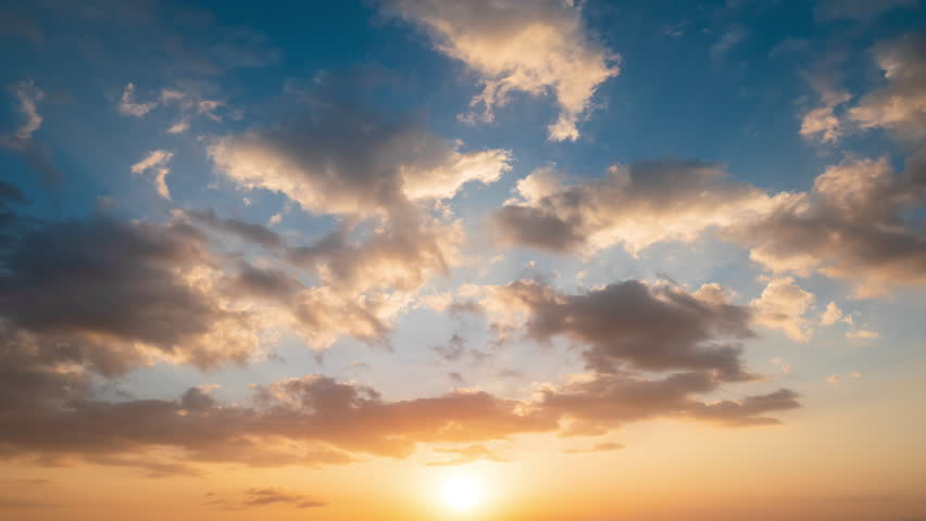 Time lapse video video Scene of Colorful sunset with Moving clouds background in nature and travel concept    Shutterstock HD Video #1025072411
