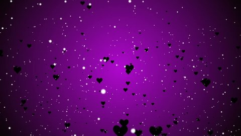Abstract Hearts particles Valentine's Day elegant backdrop motion graphic background vj loop.