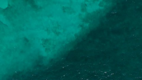 Overhead shot of a tropical blue ocean near Cancun.