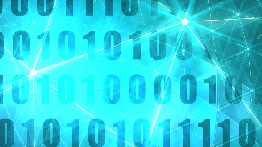 Binary code background with digits on screen. Algorithm binary, data code, decryption and encoding, row matrix. Flash lights #1025315951