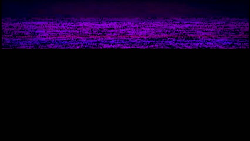 VHS real defects noise and artifacts, blue glitches from an old tape | Shutterstock HD Video #1025345921