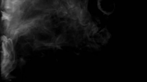 Smoke rings in fog that are professionally filmed real VFX on black overlay for compositing. 4K RED