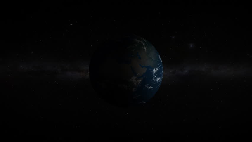 3D Earth revealing in space with lens flare effects. 4K resolution. Realistic and very high quality. | Shutterstock HD Video #1025816381