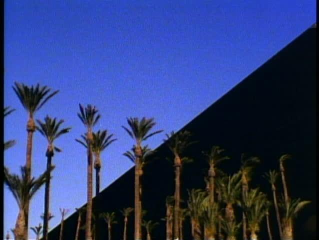 LAS VEGAS, NEVADA, 1994, Luxor Hotel and Sphinx, no people, the Las Vegas Strip