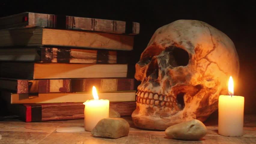 Skull in Halloween | Shutterstock HD Video #1025894621