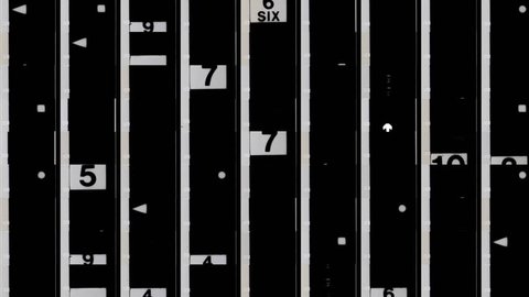 number sequence pattern made from film leader universal countdown numbers