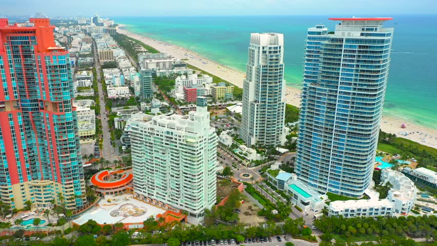 Miami summer travel condominium apartments | Shutterstock HD Video #1025937371