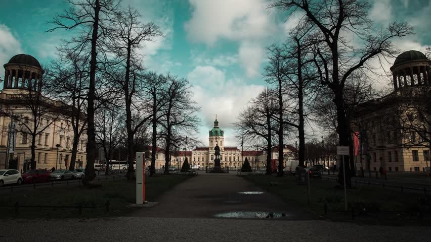 Hyper lapse Time lapse Schloss Charlottenburg cloudy sky | Shutterstock HD Video #1025982281