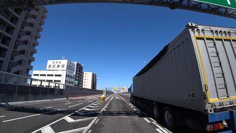 Nagoya expressway moving image / Aichi - Japan