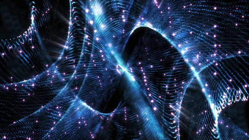 4K Abstract motion background animation shining particles stars sparks and magic dust forming in space twisted rotating regular pattern with light rays and projections seamless loop   Shutterstock HD Video #1026112871