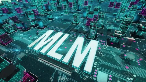 MLM with digital technology concept