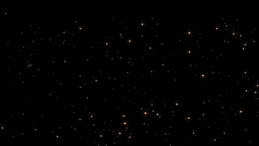 Glowing star magic glittering on dark background  #1026328571