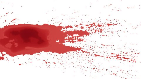 spatter of red paint or blood. alpha matte