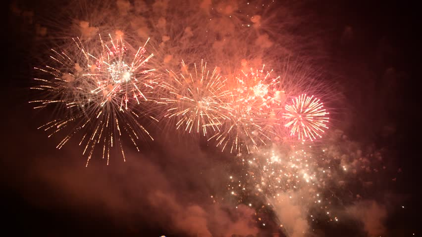 Fireworks light up the sky with dazzling display    Shutterstock HD Video #1026715151
