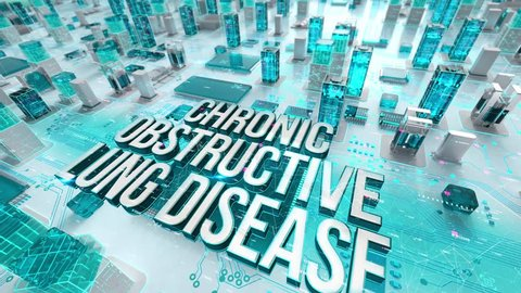 Chronic Obstructive Lung Disease with medical digital technology concept