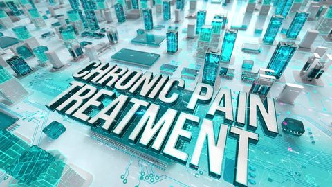 Chronic Pain Treatment with medical digital technology concept