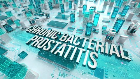 Chronic Bacterial Prostatitis with medical digital technology concept