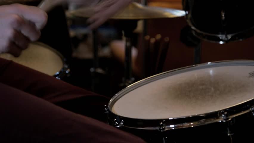 A drummer playing fast. | Shutterstock HD Video #1026751541