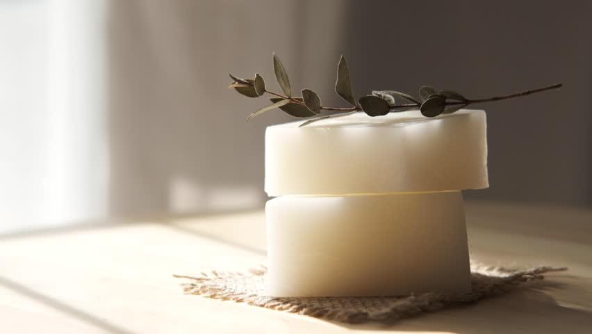 Handmade Spa Soap. Organic Soap making.   Shutterstock HD Video #1026869141
