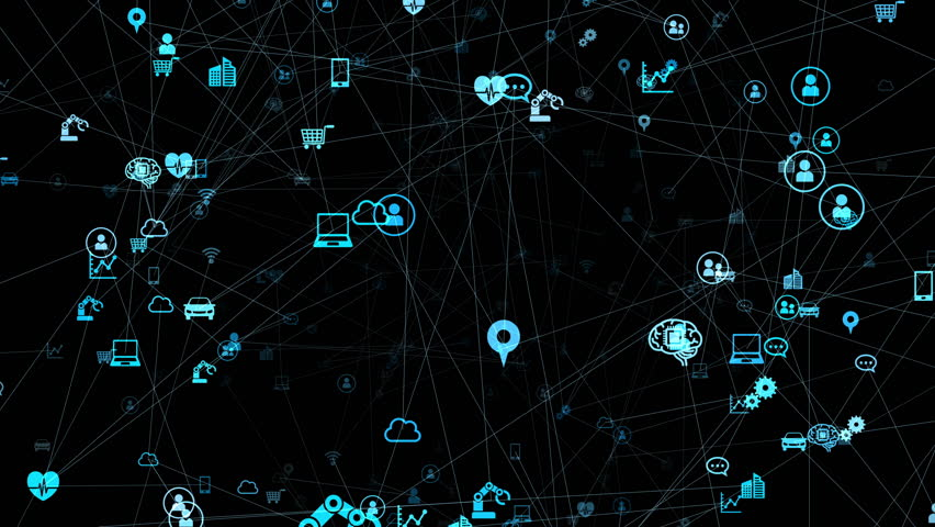 IoT (Internet of Things) concept. | Shutterstock HD Video #1027125371