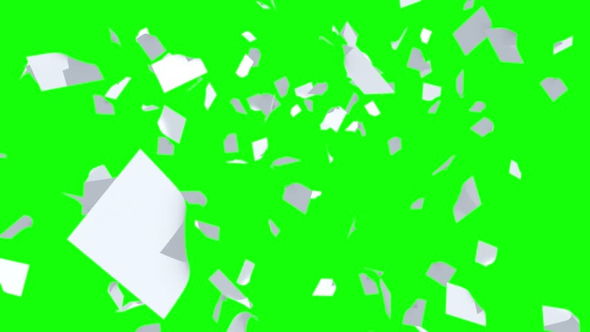 Blank Papers Floating in the Wind in green screen for keying in edit software. | Shutterstock HD Video #1027359311