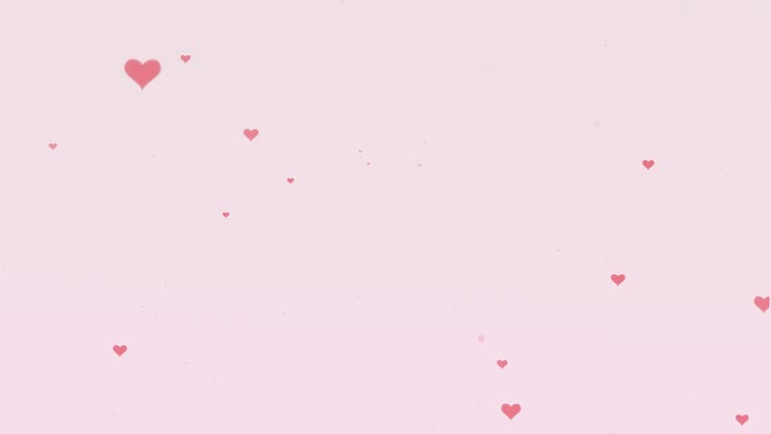 Lovely Background With Pink Hearts Stock Footage Video 100