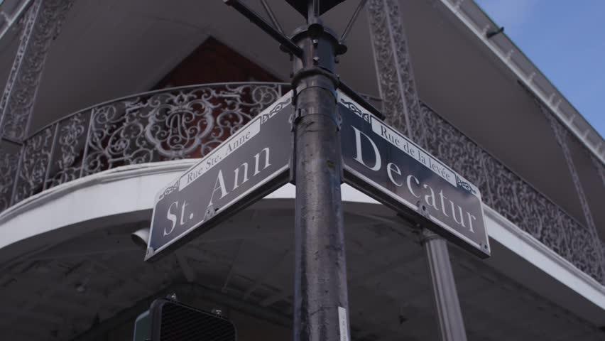 Street signs around New Orleans.