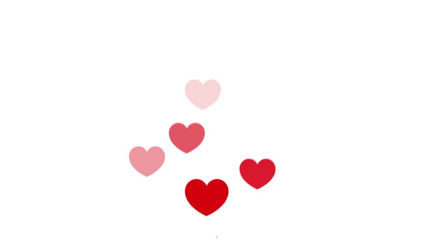 Loves with hearts in a flat style  | Shutterstock HD Video #1027549361