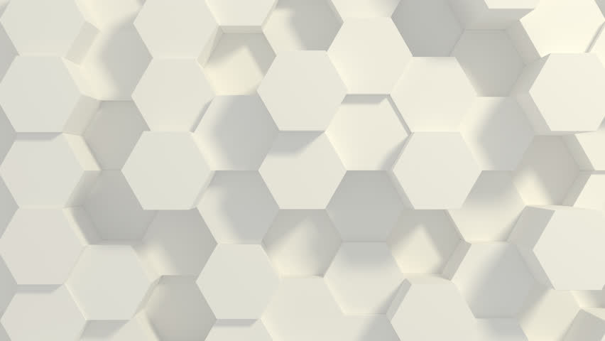 Abstract Honeycomb Background Loop. Light, minimal, clean, moving hexagonal grid wall with shadows. Loopable 4K UHD Animation. | Shutterstock HD Video #1027653131