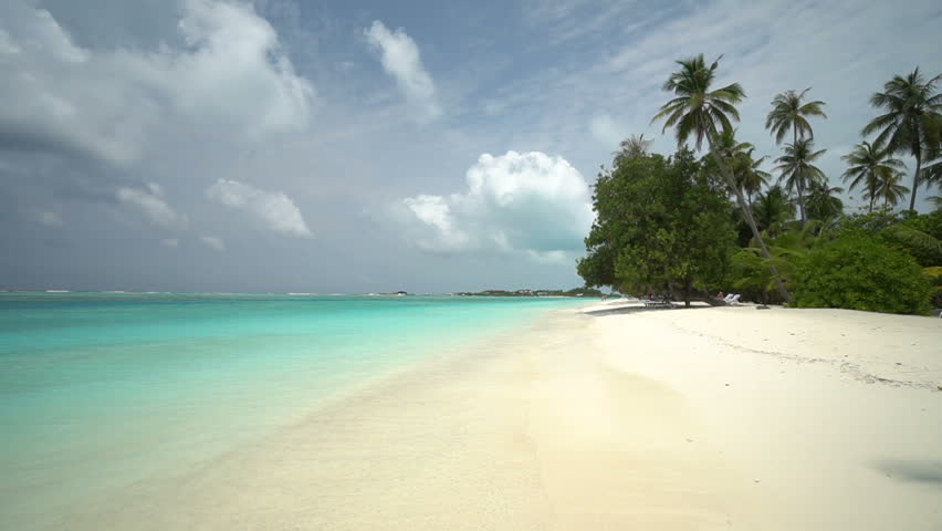 Picturesque tropical getaway in the beautiful Maldives Islands | Shutterstock HD Video #1027683371