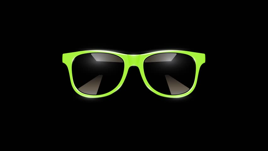4K fast slideshow of different sunglasses yellow emoticons | Shutterstock HD Video #1027720151
