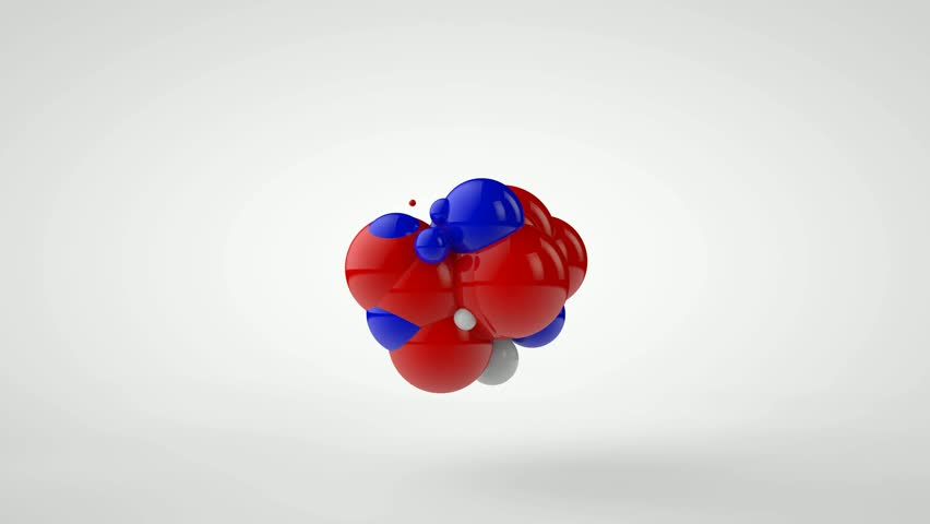 3D animation of explosion of a set of balls of red, blue and white color. Chaotic motion. | Shutterstock HD Video #1027799411