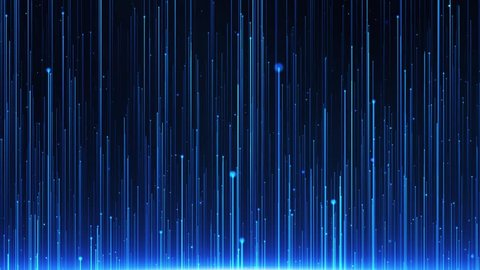Blue Light Rays Background is a spectacular motion graphics background. Blue particle light rising, blue particle stripe background, blue tech line light, ceremony party performance background video.