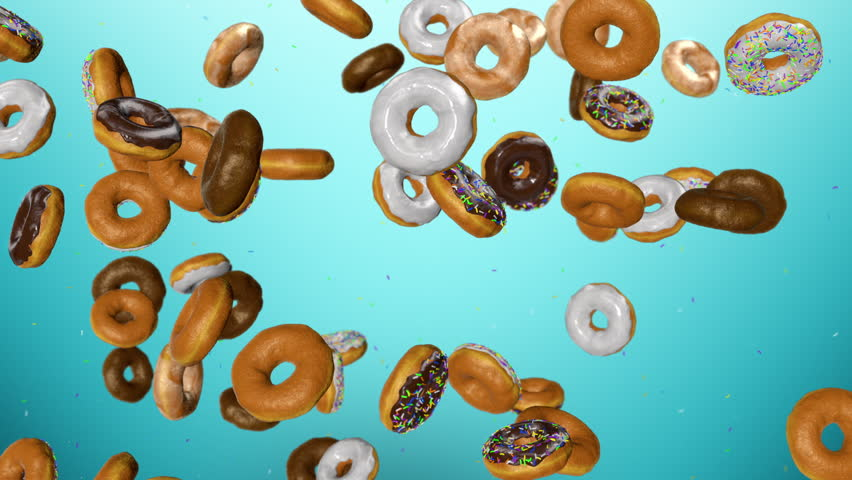 donuts background Few