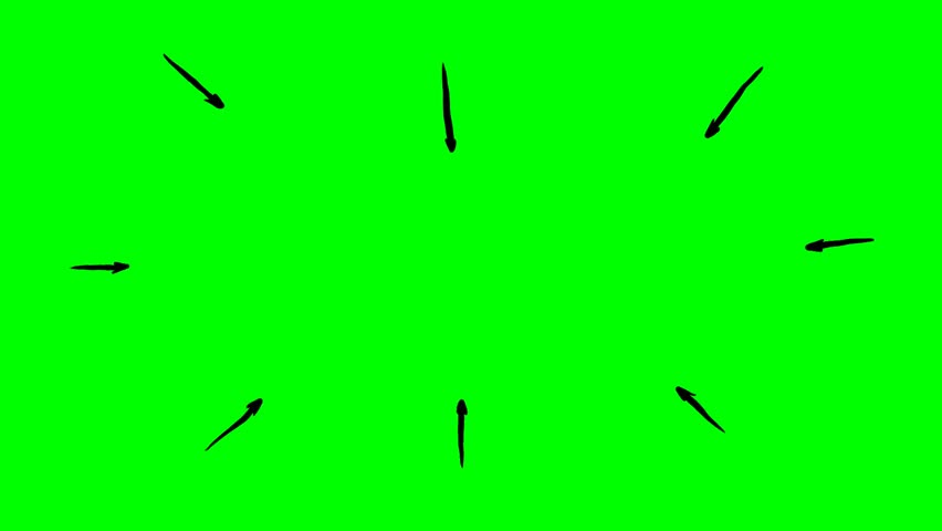 Handdrawn Arrows showing towards highlighted circle on green screen. Stop motion presentation template. | Shutterstock HD Video #1027887581