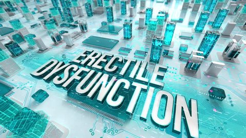 Erectile Dysfunction with medical digital technology concept