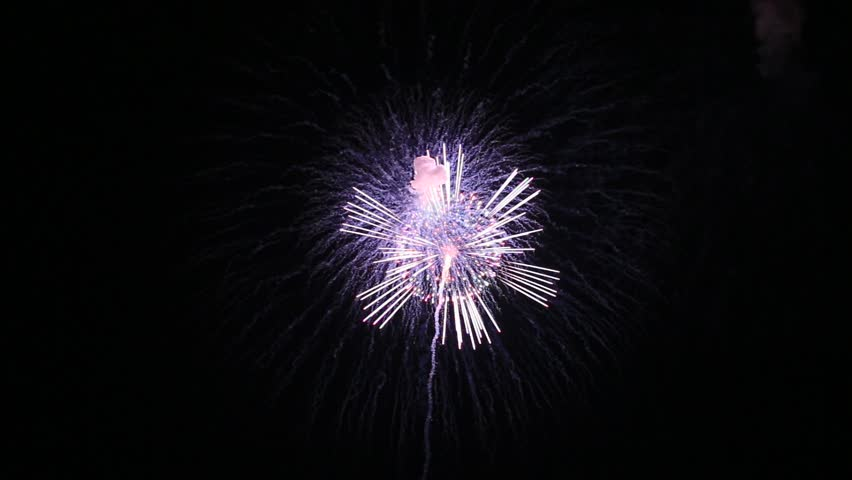 Fireworks display is a typical summer scene in Japan. | Shutterstock HD Video #1027952771