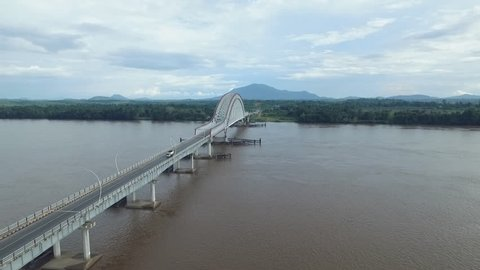 Pak kasih bridge - Tayan - Indonesia the longest bridge in Kalimantan