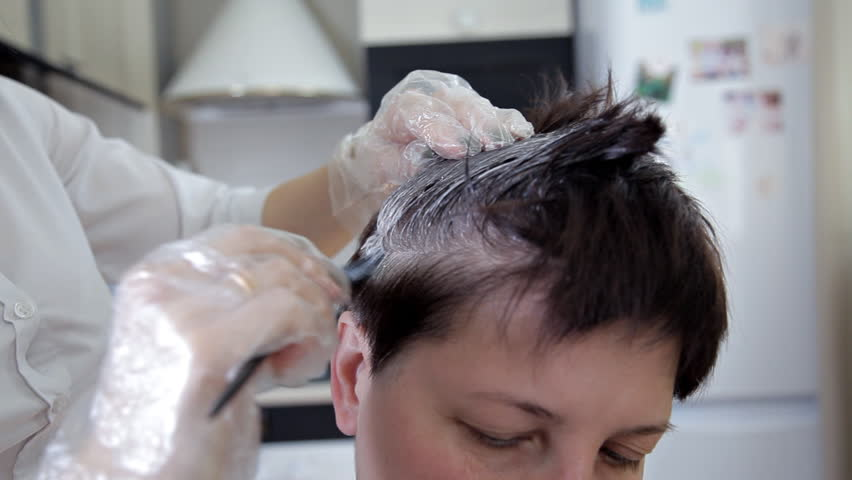 Professional hairdresser, stylist hair coloring female client . The concept of beauty and fashion | Shutterstock HD Video #1028179931