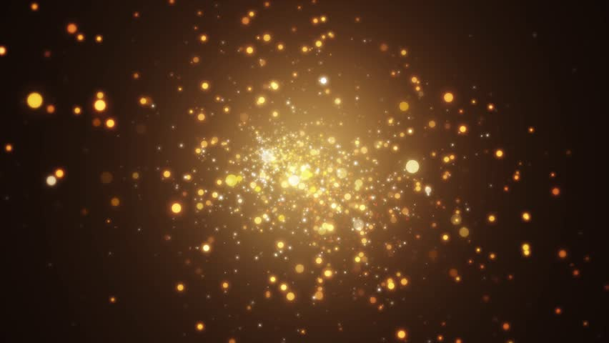 Background gold movement. Universe gold dust with stars on black background. Motion abstract of particles. VJ Seamless loop. 4k | Shutterstock HD Video #1028182541