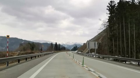 The road route of the rural roads of Japan connects between Yamagata City and Fukushima.