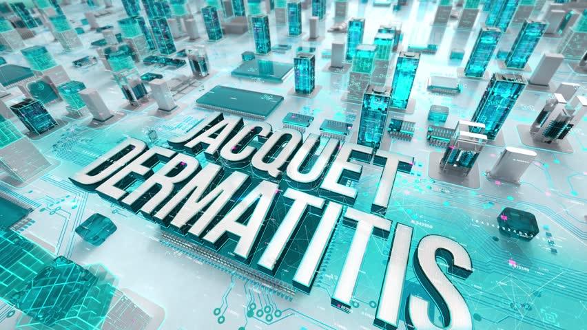 Jacquet Dermatitis with medical digital technology concept   Shutterstock HD Video #1028389901