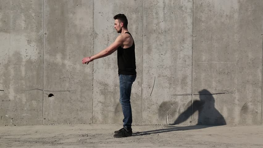 Guy doing flips in the city | Shutterstock HD Video #1028897051