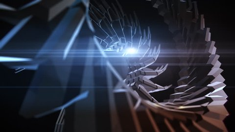 Abstract geometric sciencie fiction gear animation
